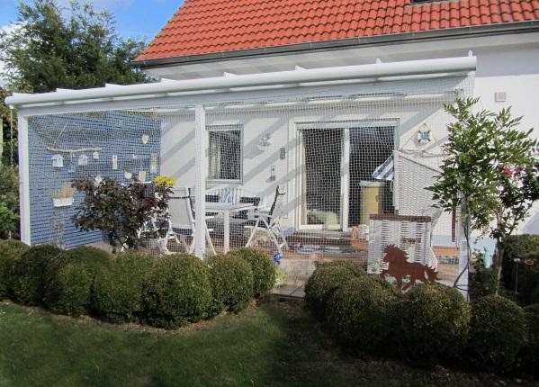 Terrasse eingenetzt